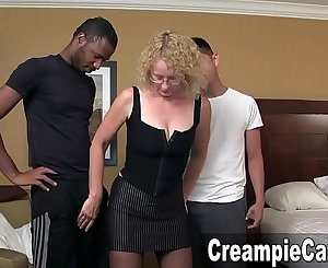 Big Creampie From Two Young Guys