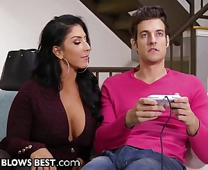 MommyBlowsBest Stripper MILF Sucks Gamer Step Son's Cock