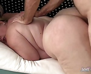 Big titted BBW Sasha Juggs gets her chubby pussy hammered hard